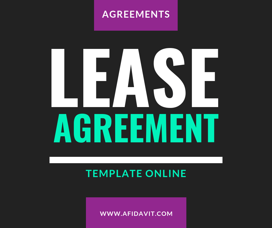 One Page Lease Agreement Template, Sample, Example